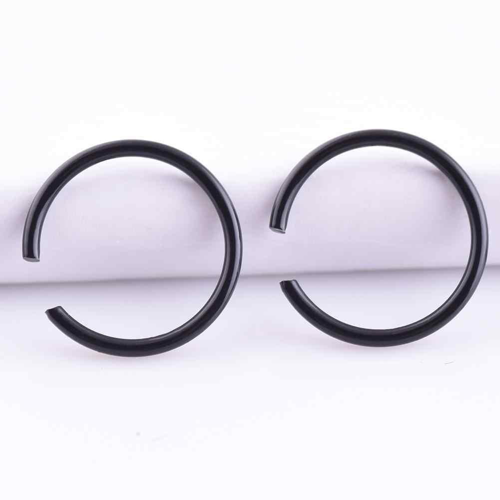 9 teile/satz menschliches punktion edelstahl C-förmigen nase ring 6/8/10mm9 stück set nase nagel lip ring ohrringe universal