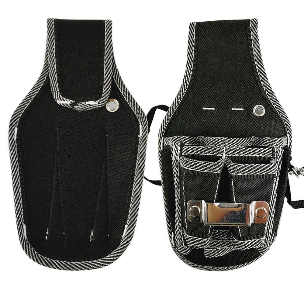 9 in 1 Screwdriver Waist Tool Bag Plier Drill Electrician 600D Nylon Fabric Pouch Twill Belt Utility Holder Bag