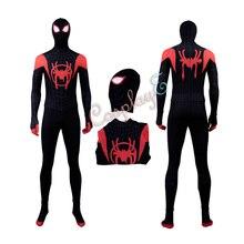 Удивительный костюм Человека-паука «Человек-паук: в стихах паука» для косплея Майлз Моралес