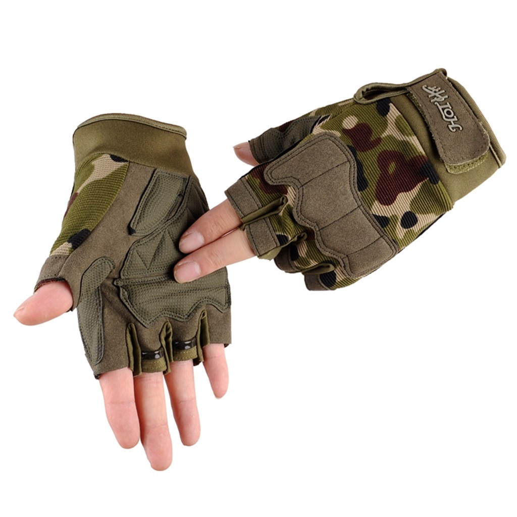 Sleeper #P501 2019 Fashion Unisex Half Finger Gloves Tactical Outdoor Sports Mountaineering Ride Luvas перчатки Winter Warm Gift