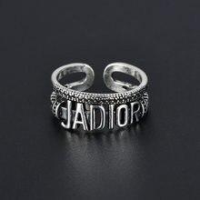 Retro simples anel feminino hip hop rock homens e mulheres tendência moda personalidade design sentido abertura anel link dia presente