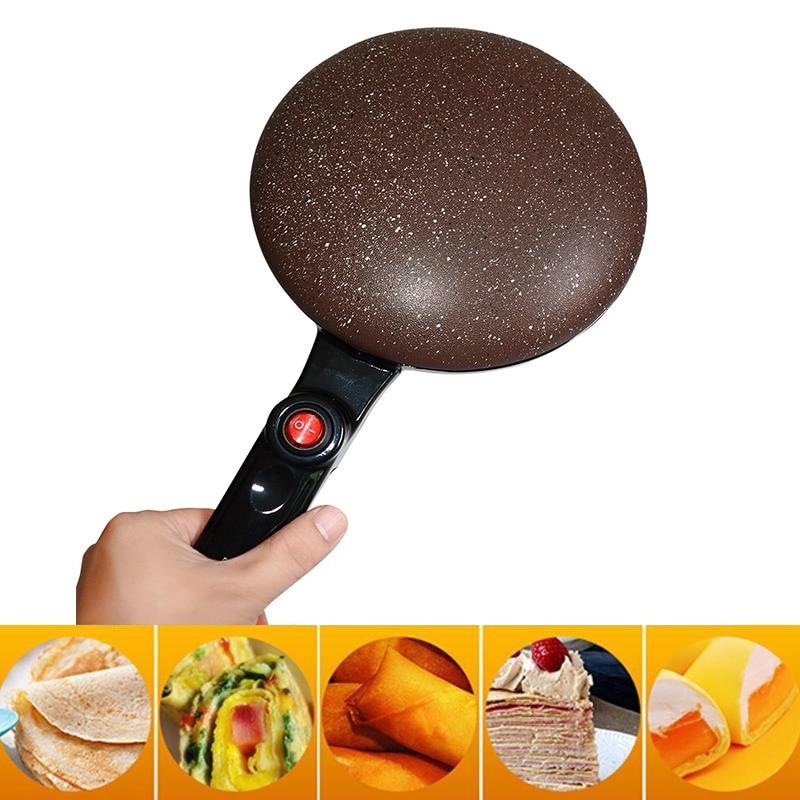 Portable Non stick Griddle Electric Crepe Maker Machine Pizza Pancake Machine Baking Pan Cake Machine Kitchen Cooking Tools New