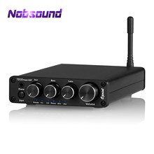 Nobsound Mini Bluetooth 5.0 Digital Amplifier 2.1 Channel Home Stereo Desktop Audio Amp Headphone Amplifier Subwoofer Amp