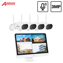 ANRAN PTZ 3MP Wireless CCTV System Audio Outdoor CCTV Camera IP Security System Video Surveillance Kit 15.6 inch NVR IR-CUT IP66