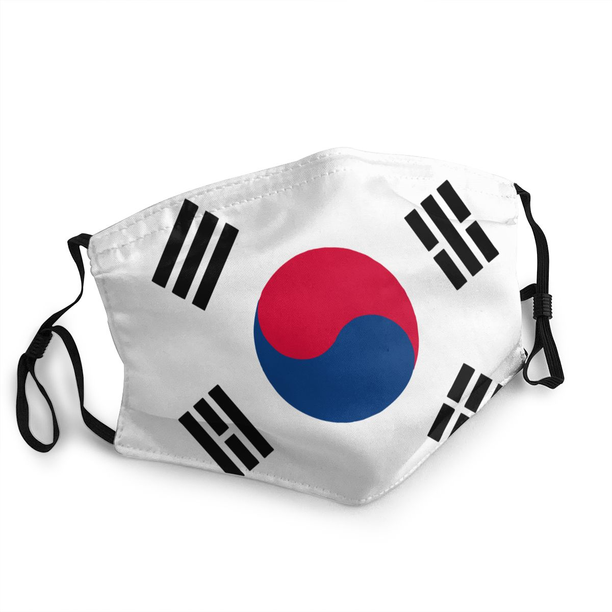 South Korea Flag Reusable Mouth Face Mask Anti Bacterial Dust Protection Cover Respirator