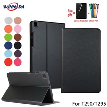 For Samsung Galaxy T290 T295 Tab A 8.0 2019 case original PU leather Stand Protective Case TPU Cover for Samsung SM-T295 Coque стоимость
