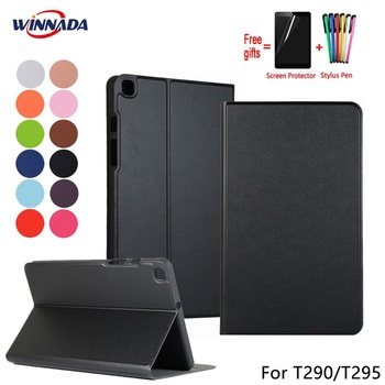 For Samsung Galaxy T290 T295 Tab A 8.0 2019 case original PU leather Stand Protective Case TPU Cover for Samsung SM-T295 Coque protective pu leather case w display window for samsung galaxy note 3 blue