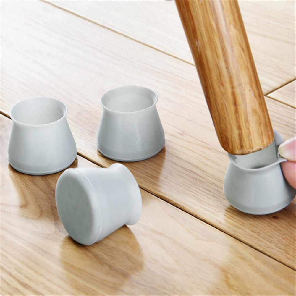 Useful 4Pcs/Pack Furniture Table Chair Leg Floor Feet Cap Cover Silicone Protectors Stool Mute Chair Mat 4x3.2cm