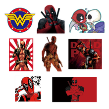 1pcs Deadpool Marvel Avengers Character Sticker Cartoon Icon Patch Thermal Transfer Iron On Clothing Apparel Decor DIY T-shirt(China)