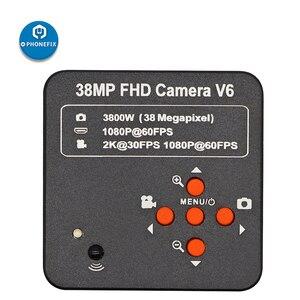 HD 1080P 60FPS микроскоп камера 2K 3800W 38MP HDMI USB промышленная электронная цифровая видеокамера C-Mount объектив для ремонта печатных плат