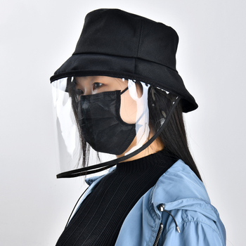 New safety anti particulate mask cover hat anti flue spittle anti dust cover full protective face eyes bucket hat