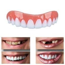 False Tooth Stickers Simulation Teeth Whitening Dentures Paste Braces Upper Tooth Cover Tool Perfect Smile Comfort Teeth Veneers 2pcs perfect smile veneers silicone denture smile false veneerd teeth whitening of veneer dub in stock for correction of teeth