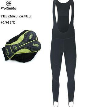YKYWBIKE-Pantalones largos para ciclismo, mallas térmicas y polares, para ciclismo de montaña