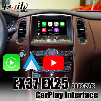 Wireless Apple CarPlay Interface box for Infiniti EX37 EX35 QX70 QX56 2008-2013 Android Auto support multi-languages by Lsailt image