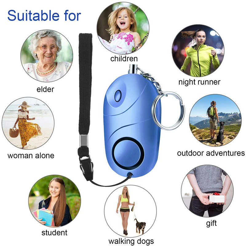 AMS-5 Pack Safe Sound Personal Alarm, 130 Db Emergency Safety Key Chain, Self-Defense Security Safe Sound Alarm Mini LED Flashli