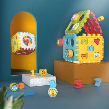 Zabawki dla niemowląt aktywność zagraj w kostkę Montessori kształt dopasuj niemowlę rozwój pudełko edukacyjne dla dzieci 13 24 miesięcy aktywność dziecka tanie i dobre opinie CN (pochodzenie) Unisex 13-24 miesiące 2-4 lata 5-7 lat 8-11 lat 12-15 lat 3 lat 3D PUZZLE DIGITAL