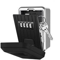 Key Wall Mounted Weatherproof Resettable Code Key Lock Box Key Lock Box with 4 Digit Combination Lock Box for House