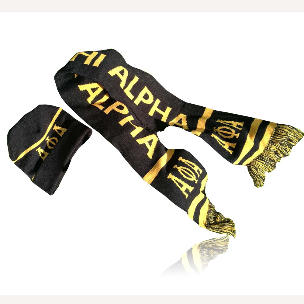 Dive Nine Fraternity Inc SCARF Alpha Phi Alpha Winter Graduation Kente Stole SGR Scarf Hat Set Knit Scarf