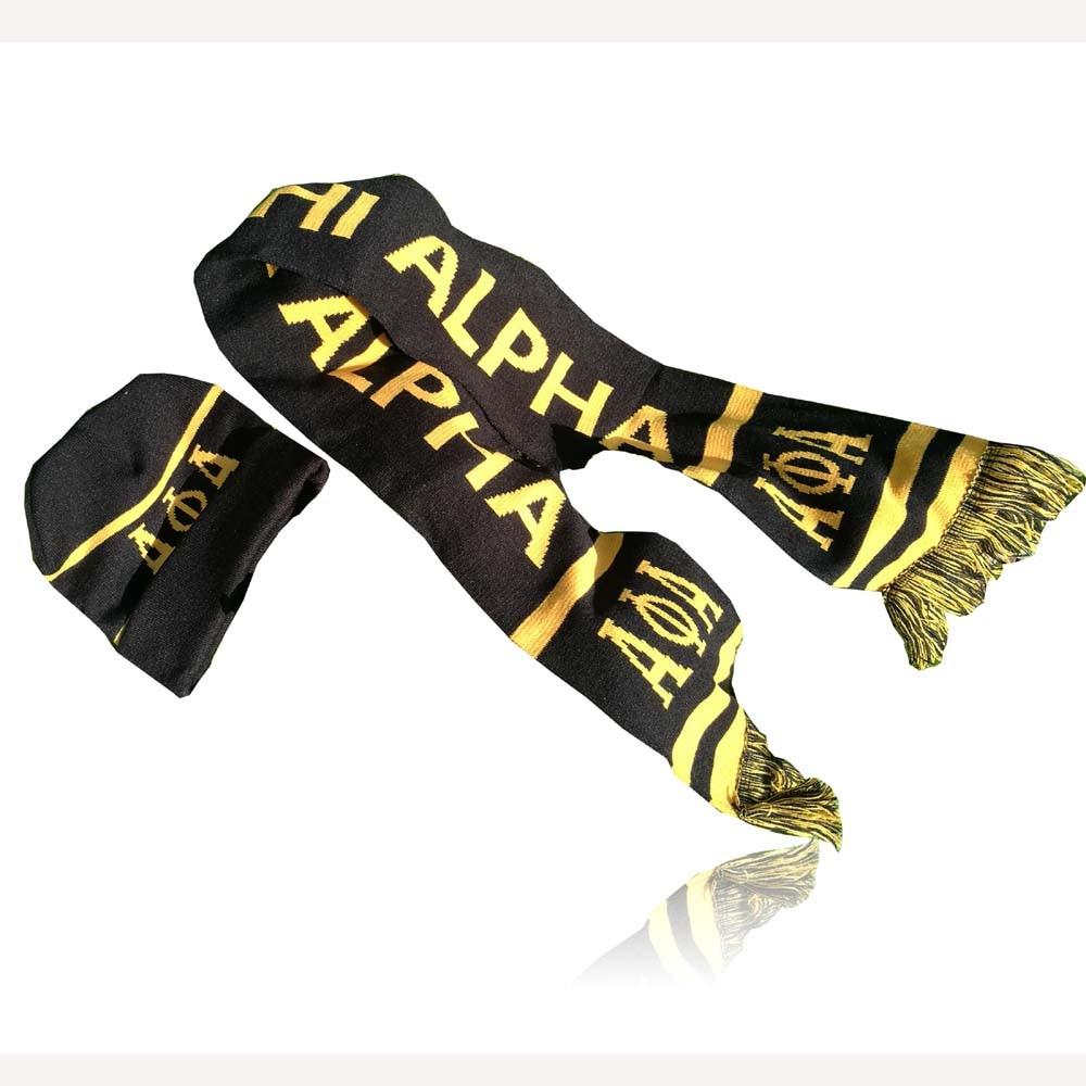 Dive Nine Fraternity Inc SCARF Alpha Phi Alpha Winter Graduation Kente Stole SGR Scarf Hat Set Knit Scarf