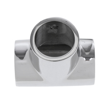 Polished Boats Handrail Fitting - 90 Degree Hand Rail T/Tee 3mm Thick 316 Stainless Steel