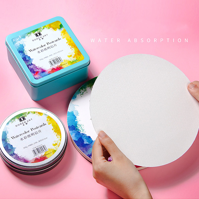 YOO Professional 300g Watercolor Paper Pad Aquarelle Water-soluble Drawing Paper For Art Supplies Watercolor Cotton Paper Cards