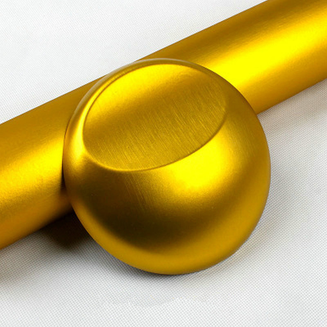 10cm/20cm/30cmx152cm Car Styling Gold Metallic Brushed Aluminum Vinyl Matt Brushed Car Wrap Film Sticker Decal With Bubble