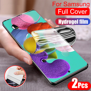 Full Cover Protective Hydrogel Film For Samsung Galaxy S9 S10 E S20 Plus Note 20 Ultra A51 A71 A50 A70 Screen Protector No Glass(China)