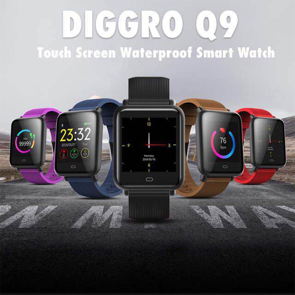 Homem à Prova Inteligente com Freqüência Smartver para Ios Esporte Relógios Inteligentes Android Relógio Feminino Dwaterproof Água Cardíaca Pressão Arterial Telefone q9