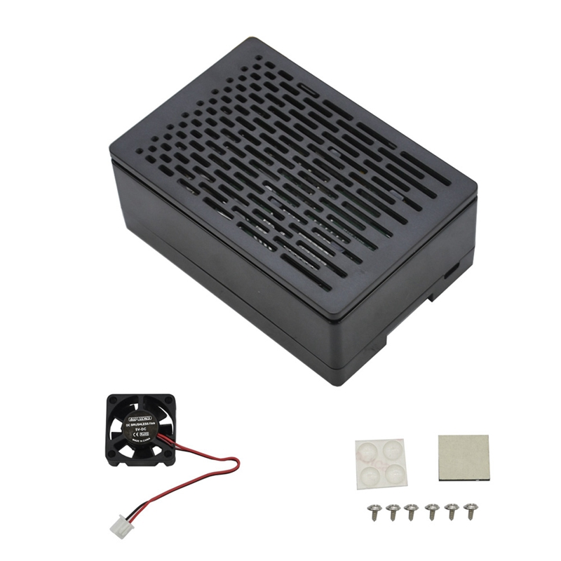 For Raspberry Pi 4B 3.5 Inch Protective ABS Case With Cooling Fan Support Display Screen For Raspberry Pi 4 Model B