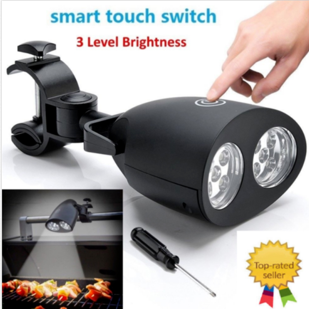 Smart Touch 10 LEDs Barbecue Grill BBQ Light LED 360 Degree Rotating Outdoor Camping Riding Lamp BBQ Accessories Lighting Tools