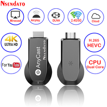 Anycast M100 2.4G/5G 4K Miracast Nào Đúc Không Dây Cho DLNA AirPlay TV Stick Wifi Màn Hình Hiển Thị dongle Dành Cho IOS Android PC