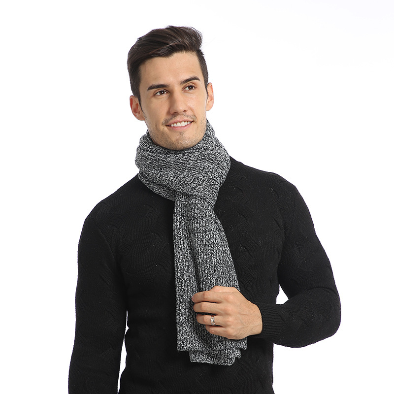 Brand Designer Winter Scarf Men Cotton Scarf Male Brand Shawl Wrap Knit Cashmere Solid Color Warmer Women's Scarves
