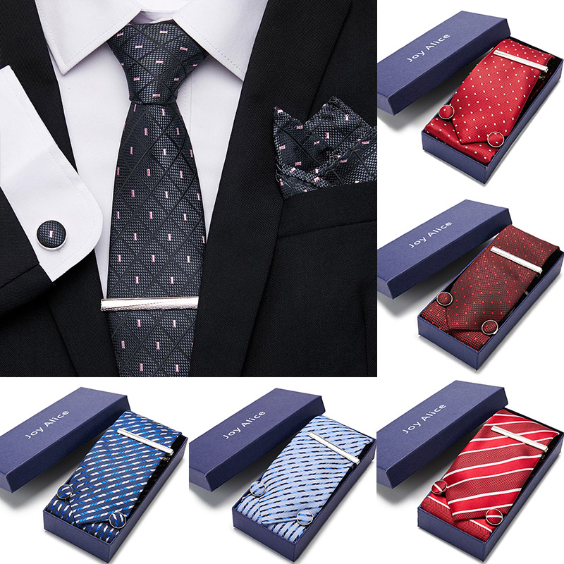 52 Style Neck Tie Men Skinny 7.5cm 100% Silk Necktie Set Wedding Ties Polyester Blue Stripe Dot Fashion Mens Business Bowtie