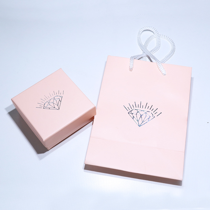 Manufacturers Currently Available Pink Jewlery Box Celebrity Style Pink Carry Bag Gift Box Jewelry Box Gift Box Wholesale