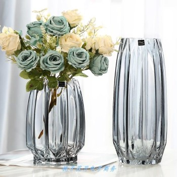 Vases Creative Large Glass Bottle Transparent Home Decor Hydroponic Terrarium Lily Rose Vase Living Room Flower Decoration 1