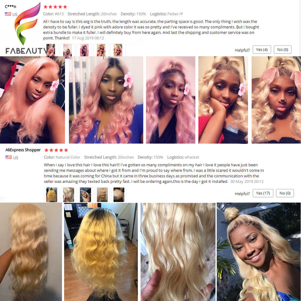 Pelucas de pelo humano frontales de encaje Rubio sin pegamento #613 onda brasileña del cuerpo 13*4 peluca frontal de encaje Pre desplumado pelucas de encaje Remy rubio miel