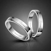 Fashion 925 Sterling Silver Forever Love Engagement Ring Solid Silver Couple ring Woman or Man Single ring Wholesale jewelry