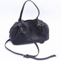 100% Genuine Cow Leather Women Handbags 2020 New Casual Portable Shoulder Bag Female Crossbody Black Zipper Tote Bag Small
