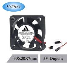 лучшая цена  30mm 3cm 3007 30x30x7mm GDT 2Pin 5V DC Mini Cooling Fan Cooler 50PCS