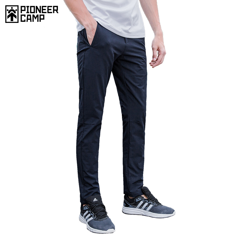 Pioneer Camp new waterproof casual pants men brand clothing simple solid trousers male quality stretch slim fit pants AXX701153 casual pants men slim fit pantsfitted pants - AliExpress