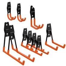 10 упаковок гаражного хранения двойные крючки, для организации электроинструментов, лестницы, оптовые товары