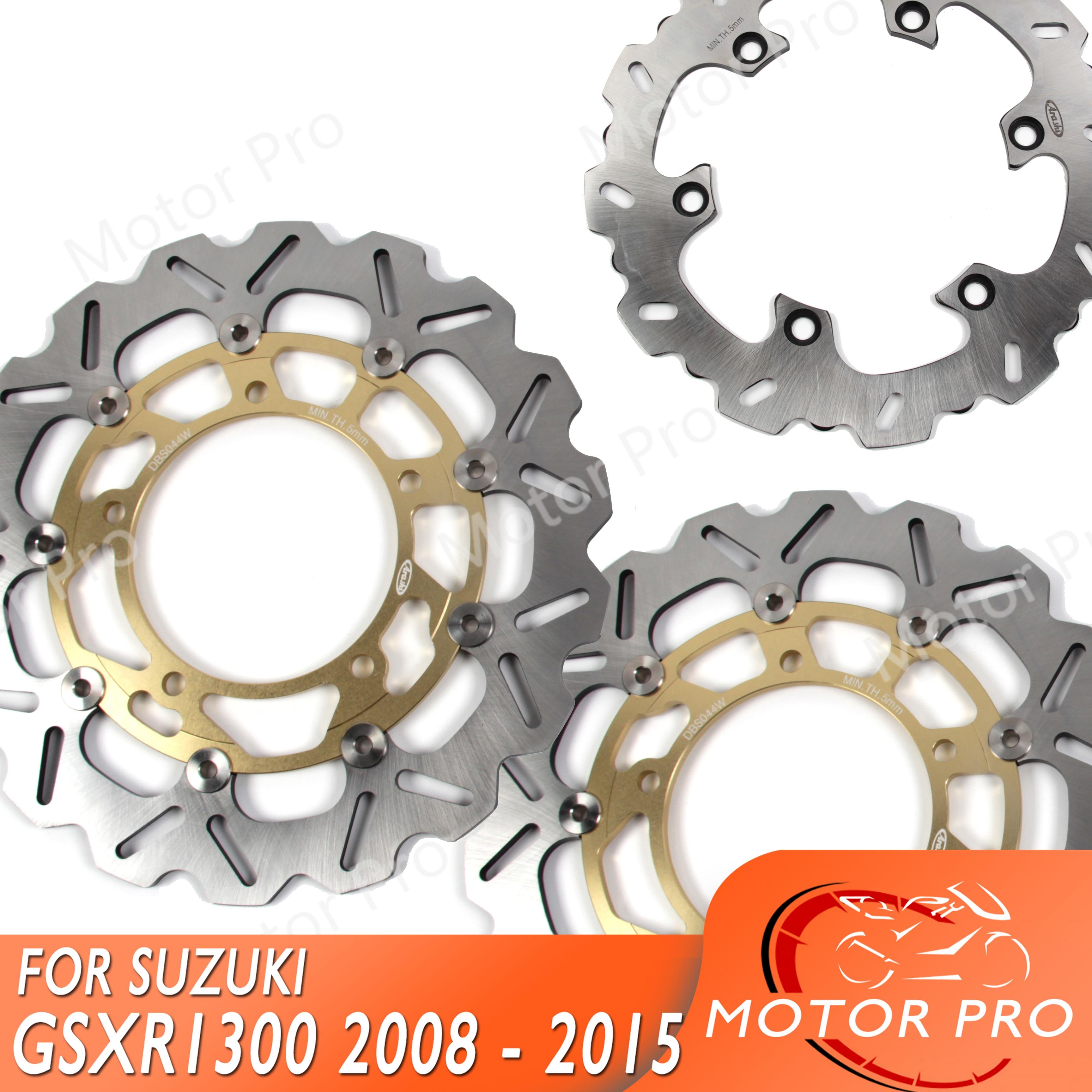 Pads GSX 1300 B B-King 2008 2009 2010 2011 2012 Suzuki F+R Brake Disc Rotor