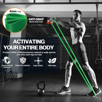 208cm Thick Stretch Resistance Band Sports Expander Elastic Pull Up Powerlifting Bands for Resistance Training and Workout 4