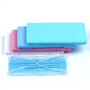 3pcs MIX PP Mask Storage Box Storage Folder Portable Dustproof Moisture-proof Reusable Save Mask Case Box Wholesale