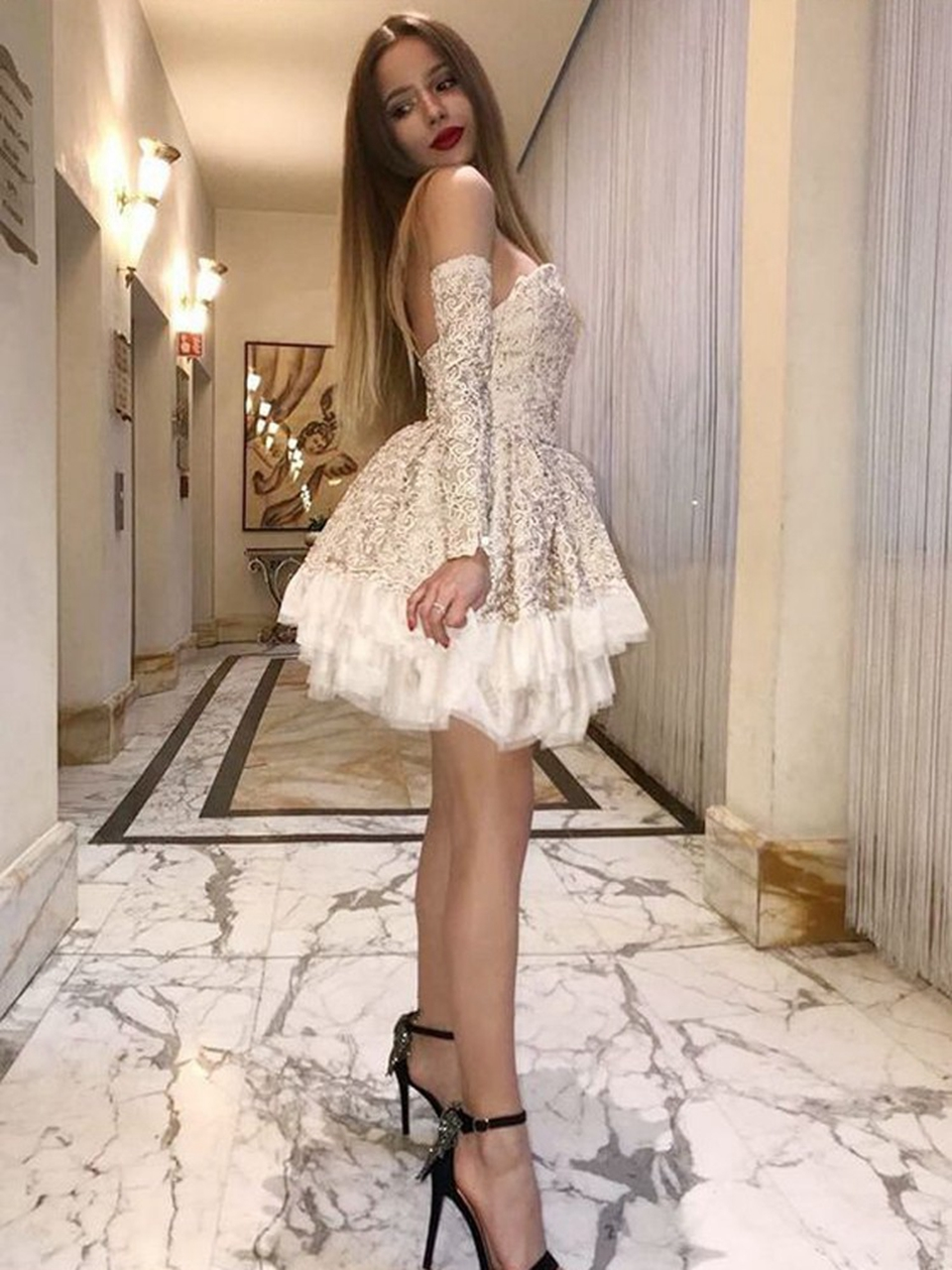 Champagne Cocktail Dresses 2020 Women Formal Party Short Prom Dress Off Shoulder Robe De Soiree Homecoming Gown Graduation Dress