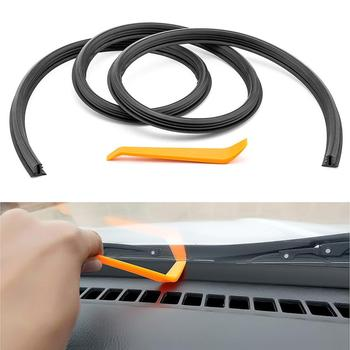 1.6m Car Dashboard Sealing Strip Weatherstrip Front Windshield Rubber Sound Proof Insulation Seal Universal Automobile Interior image