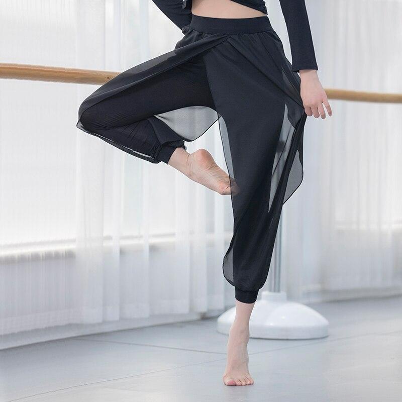 Modern Dance Practice Pants Dance Pants Female Adult Chiffon Slimming Yoga Pants Latin Dance Pants Square Dance Costume
