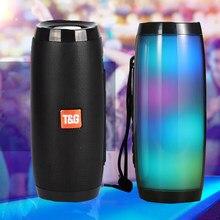 T & g157 alto-falante sem fio bluetooth alto-falante portátil bluetooth poderoso alto boombox baixo ao ar livre de alta fidelidade tf rádio fm com luz led
