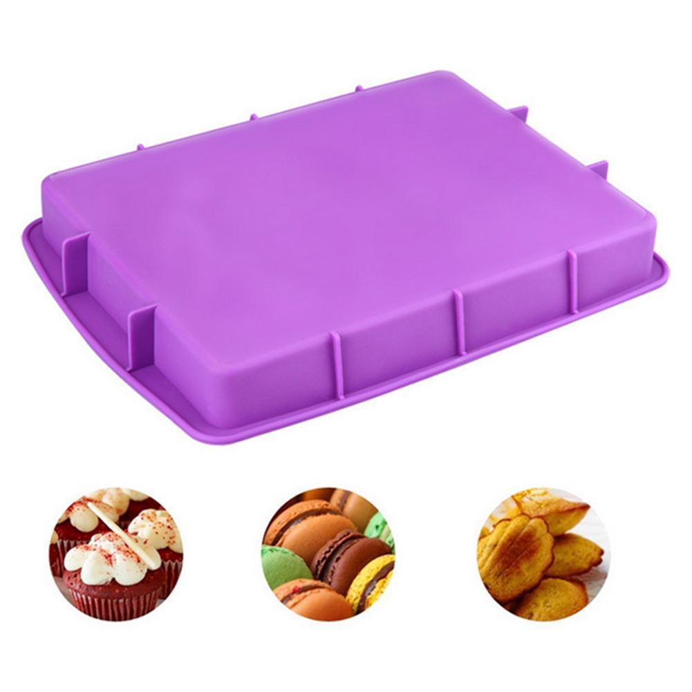 Flexible Rectangle Non-stick Cake Mold Reusable Pastry Bakeware Baking Pad Mat High quality hot sale