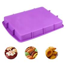 Flexible Rectangle Non-stick Cake Mold Reusable Pastry Bakeware Baking Pad Mat High quality hot sale